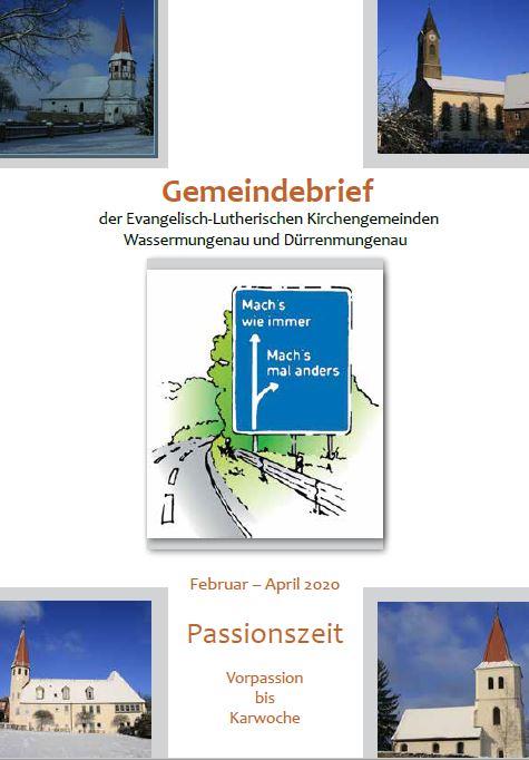 Gemeindebrief Frühjahr 2020