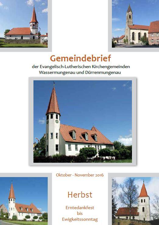 Gemeindebrief Herbst 2016