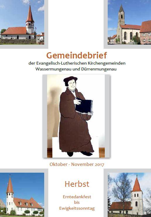 Gemeindebrief Herbst 2017