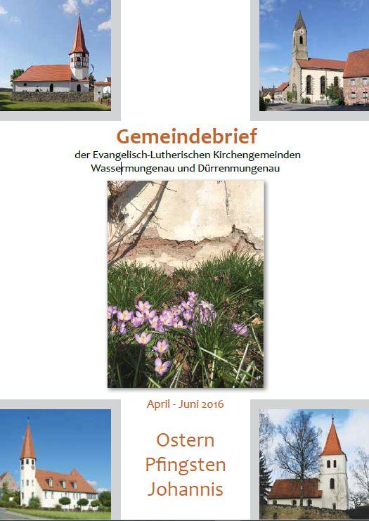 Gemeindebrief Ostern 2016