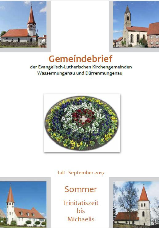 Gemeindebrief Sommer 2017