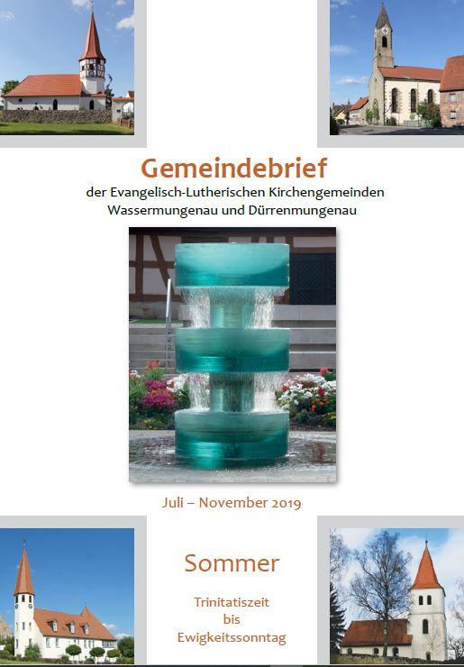 Gemeindebrief Sommer 2019