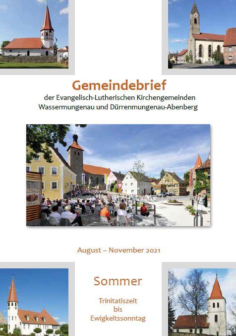 Gemeindebrief #030 Sommer 2021